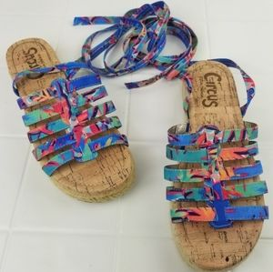 Circus by Sam Edelman size 7.5 ankle wrap sandals
